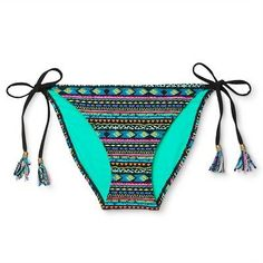884f073a632d9 Women s String Bikini Bottom - Black Tribal Print - XS - Xhilaration String  Bikinis