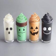 40 Terrific Halloween Food Ideas for a Spooky Halloween Party Fun Drinks, Yummy Drinks, Yummy Food, Halloween Desserts, Spooky Halloween, Halloween Party, Spooky Food, Halloween Inspo, Halloween Costumes