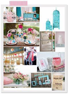 Vintage Pink and Aqua Wedding Inspiration