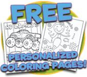 coloring pages that can be personalized...might be cute to add to Laken's Easter basket!