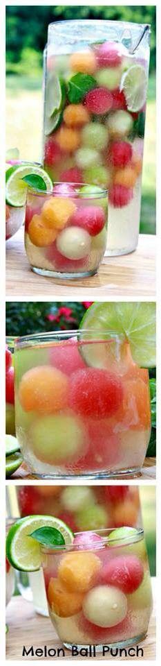Bolinhas de fruta refrescantes