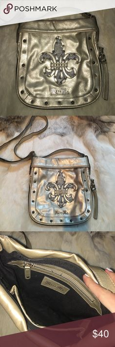 Miss Me crossbody One of my favorites!! Can be unzipped to open up for more room like shown in last picture. Adjustable strap. Zippered pocket inside! Has some signs of wear shown in last pictures. Miss Me Bags Crossbody Bags
