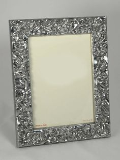 Elegante #portafoto in legno cornice effetto #argento. Artigianato Italiano