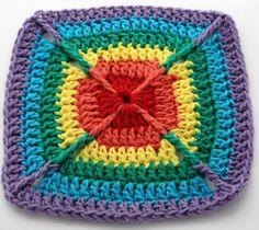 Over the Rainbow Dish Cloth