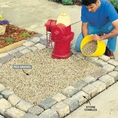 The Family Handyman DIY Tip of the Day: Keep Dog Pee From Ruining Your Yard. Dog urine discolors and kills grass. Replace part of the lawn with landscape fabric covered with pea gravel, then add a few dog-friendly decorations! by lindsey