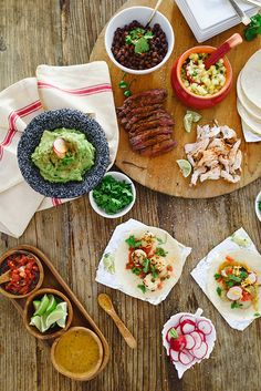 Taco bar: http://www.stylemepretty.com/living/2014/11/03/20-perfect-for-entertaining-recipes/