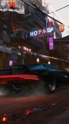 Cyberpunk 2077, car, rear, 2018, 720x1280 wallpaper