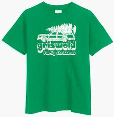 Griswold National Lampoon's Vacation Movie Christmas Family *GREEN* T-SHIRT