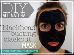The DIY all-natural blackhead busting blackout mask helps clarify your skin naturally. Best yet, it is extremely simple to make at home!