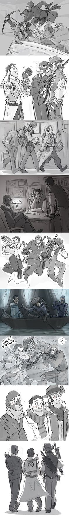 TF2- The Support Team Sketches by MadJesters1 on DeviantArt