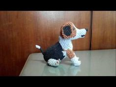 how to make origami 3d puppy part 1 - YouTube