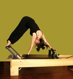Very advanced move on the Pilates Reformer. I want to master this someday.