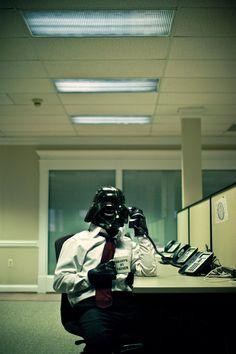 Darth at work...