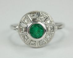 Items similar to Impeccable! 2.10tcw Colombian Emerald & Diamond Ring Cocktail Ring 18k on Etsy