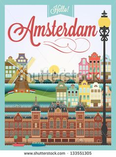 Vintage Travel Poster - Amsterdam - Google Search