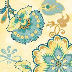 I uploaded new artwork to plout-gallery.artistwebsites.com! - 'Aqua Florals-jp3641y' - http://plout-gallery.artistwebsites.com/featured/aqua-florals-jp3641y-jean-plout.html