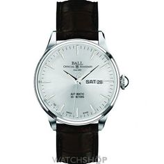 Mens Ball Trainmaster Eternity Automatic Watch NM2080D-LJ-SL Watch Companies, Watch Brands, Watches Online, Automatic Watch, Stainless Steel, Ernest Jones, Accessories, Number, Silver