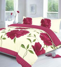 Shop for Rayyan Linens Rosaleen White Fuchsia Super King Duvet Quilt Cover With Pillow Cases Bedding Set In Size Super King All New. Starting from Compare live & historic home bed and bath prices. Bed Duvet Covers, Duvet Cover Sets, Bed Sets For Sale, Fitted Bed Sheets, Linen Sheets, Black Bed Linen, Cheap Bedding Sets, Comforter Sets, 3d Christmas