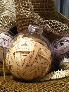 French Vintage Inspired Christmas Ornaments: Craft Tutorial - #art, #diy, craft