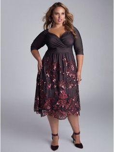 Amaryllis Plus Size Dress - Plus Size Evening Dresses by IGIGI