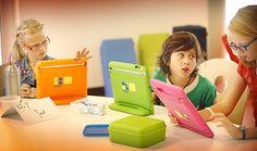 Crianças usam tablet em escola na Holanda