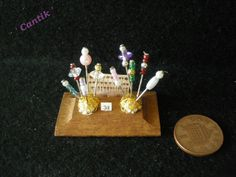 1:12 Scale Hand-Made Miniature HATPIN SHOP DISPLAY STAND
