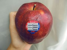 stickers on apples. good to know - those annoying stickers on fruits and veggies tell you A LOT! 4 numbers mean they were conventionally grown, 5 numbers starting with 8 means they were genetically modified (GMO), and 5 numbers starting with 9 means they are organically grown (no pesticides no GMO's)