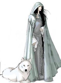 """HUAN El gran perro de Valinor que Orome dio a Celegorm; amigo y benefactor de Beren y Luthien; mató a Carcharoth y a la vez fue muerto por él. El nombre significa """"gran perro, sabuezo"""""""