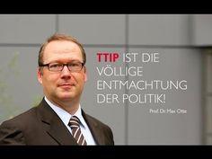 """Prof. Max Otte: """"TTIP ist die völlige Entmachtung der Politik!"""" - YouTube Veröffentlicht am 10.04.2016 Max Otte ist Ökonom mit dem Schwerpunkt Finanzmarktordnung und lehrt in Worms und Graz. Er hat verschiedene Freihandelsabkommen untersucht, darunter das NAFTA-Abkommen zwischen Nordamerika und Mexiko. Bekannt wurde er durch sein Buch """"Der Crash kommt"""", in dem er bereits 2006 die große Finanzkrise vorhersagte. Er hat die deutsche und die US-Staatsbürgerschaft."""