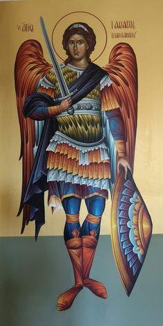 Byzantine Icons, Byzantine Art, Religious Icons, Religious Art, Celtic Christianity, Jesus Art, Angel Pictures, Archangel Michael, Catholic Art