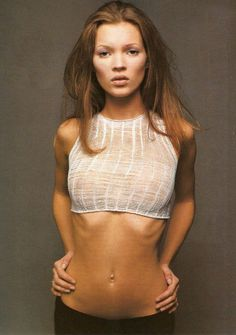 """Kate Moss in """"Fresh Faces"""" for Allure January 1993 photographed by Sante D'Orazio"""