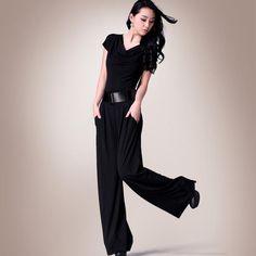 2017 Black Women Jumpsuit Summer Plus Size XXXL Short Sleeve Casual Full Length High Waist Ladies Elegant Jumpsuits with Sashes