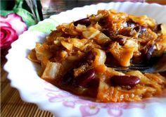 Тушеная капуста с фасолью и картофелем : Вегетарианская и постная кухня