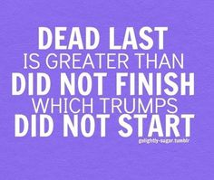 Finish what you start x