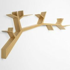 decovry.com - Olivier Dollé | Bookshelf Tree Branch Oak