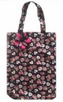 Hearts and Roses Print Shopping Bag