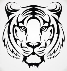 Tribal Tiger Head vector - Tribal Tiger Head vector The Effective Pictures We Offer You About back tattoo A quality picture c - Tigre Tribal, Animal Stencil, Stencil Art, Stencils, Tiger Stencil, Tiger Silhouette, Silhouette Vector, Art Drawings Sketches, Animal Drawings
