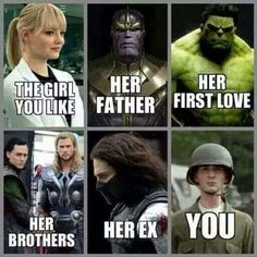 Top 30 Funny Marvel Avengers Memes - Quotes and Humor Avengers Humor, Marvel Jokes, Marvel Avengers, Funny Marvel Memes, Dc Memes, Memes Humor, Funny Jokes, Funny Superhero Memes, Funny Girl Memes