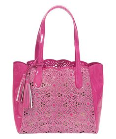 BUCO Handbags Orchid Starburst Large Tote by BUCO Handbags #zulily #zulilyfinds