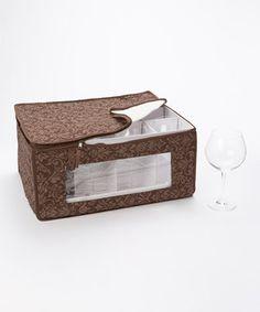 This Brown Damask Balloon Stemware Storage Box by Homewear is perfect! #zulilyfinds