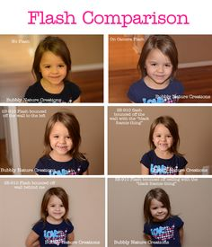 Flash photography: a comparison// Turn off the standard camera flash, people!