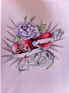 Flower and Heart tattoo by smsjgoku on DeviantArt