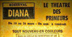 Ancienne Affiche du Théâtre Diana a Roberval
