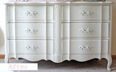 After-French Provencial dresser for Rylie!  Exactly like my Nanny's old dresser!