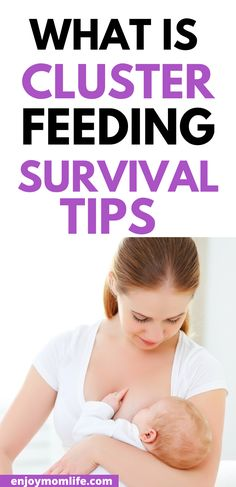 What is cluster feeding? Every breastfeeding mom needs to know about cluster feeding and how to survive cluster feeding. #clusterfeeding #whatisclusterfeeding #survivaltipsforclusterfeeding Breastfeeding Positions, Breastfeeding Tips, Cluster Feeding, Survival Tips, Baby Names, Need To Know, Everything, Pregnancy