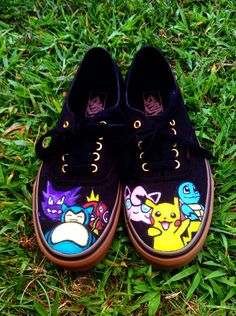 Pokemon Vans Shoes by 1997 on Etsy, $115.00