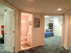 basement bedroom and bath ideal for teenage child