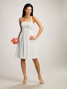 Alfred Angelo...  I think this is the dress I wore in Mandy's wedding.  It looks really good on me.