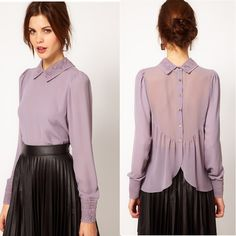 Cheap blouse with short sleeves, Buy Quality blouse striped directly from China shirt el Suppliers: 2016 spring new Korean style cultivating wild high collar hedging long sections bo Fall Fashion Outfits, Hijab Fashion, Fashion Dresses, Girl Outfits, Hijab Stile, Le Polo, Vetement Fashion, Beautiful Blouses, Chiffon Shirt