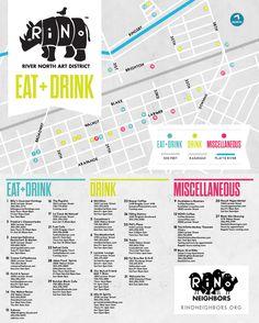 RinoEatDrinkMap.  makes it a little easier to  navigate one of Denver's best art districts!